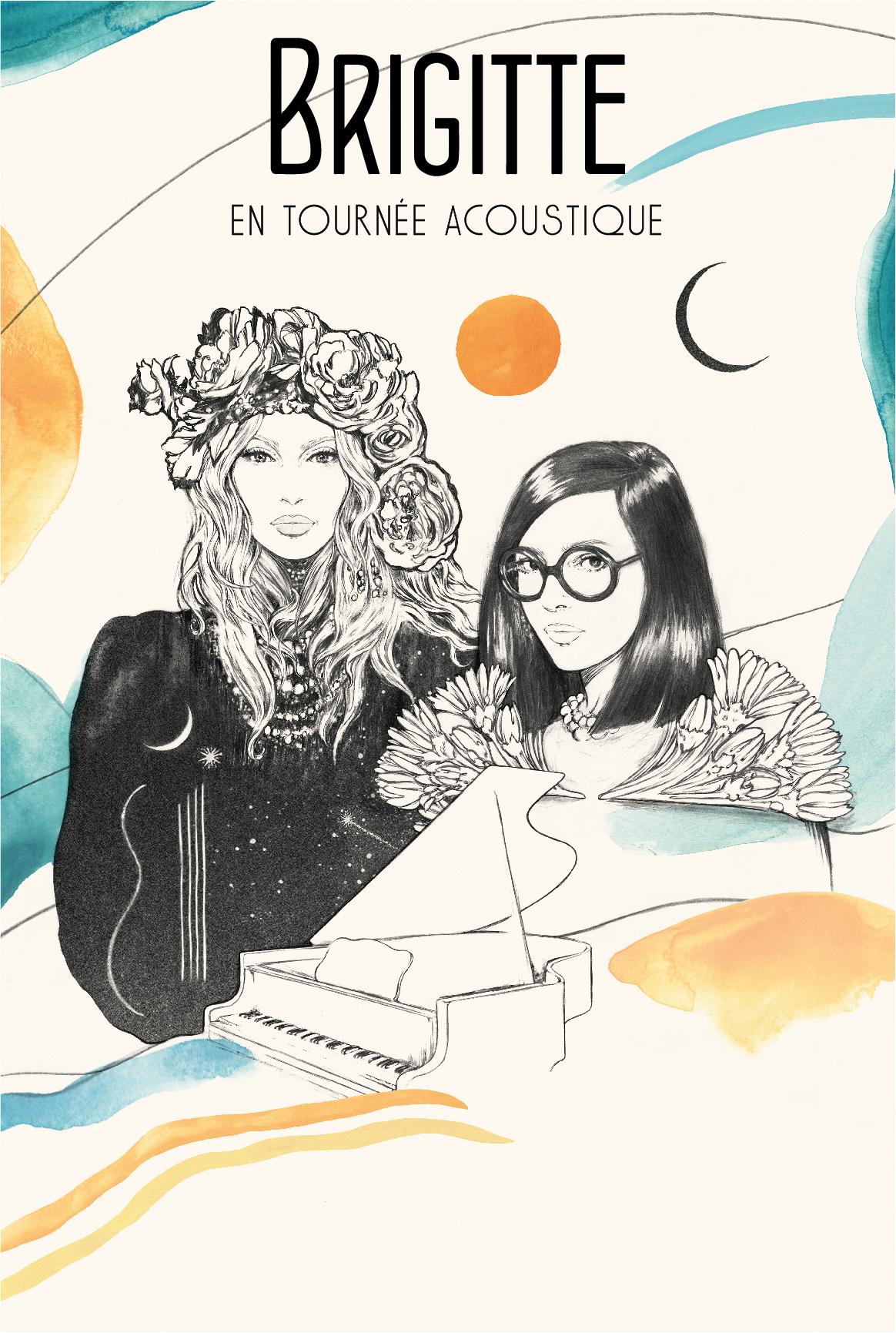 BRIGITTE - Tournée acoustique piano/voix