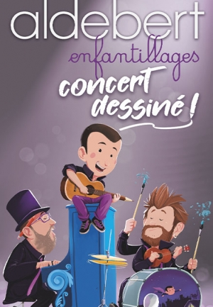 ALDEBERT : Enfantillages, concert dessiné