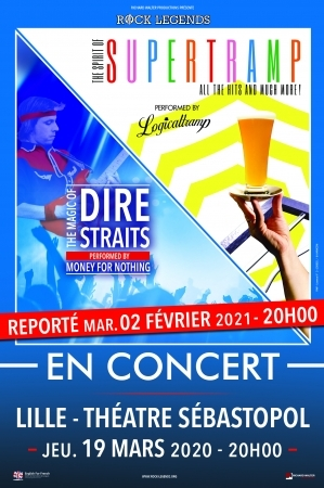 SUPERTRAMP & DIRE STRAITS - DATE DE REPORT