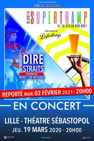 SUPERTRAMP & DIRE STRAITS - DATE DE REPORT