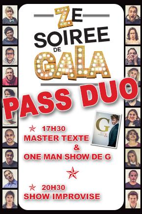 ZE SOIREE DE GALA - PASS DUO