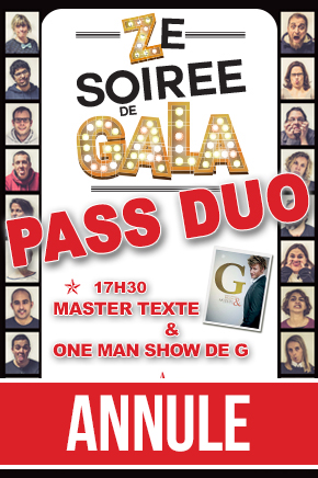 ZE SOIREE DE GALA - PASS DUO // ANNULE