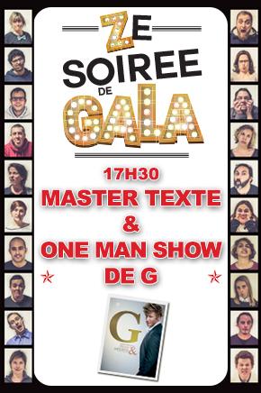ZE SOIREE DE GALA - MASTER TEXTE ET ONE MAN SHOW DE G